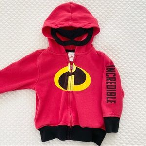 Disney Incredibles Hoodie with Mask, Size 2T